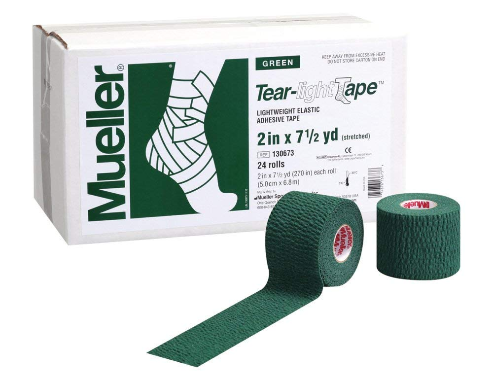 Mueller Tear-light Tape Green 2 in X 7.5 Yd 24ct