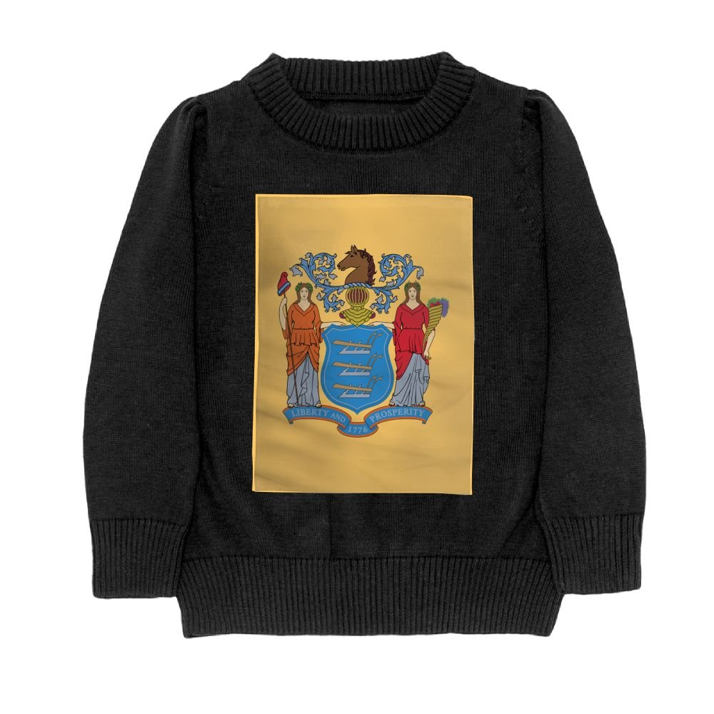 DTMN7 Flag Of New Jersey Teens Sweater Long Sleeves Crew-Neck Youth Athletic Casual Tee Junior Boys