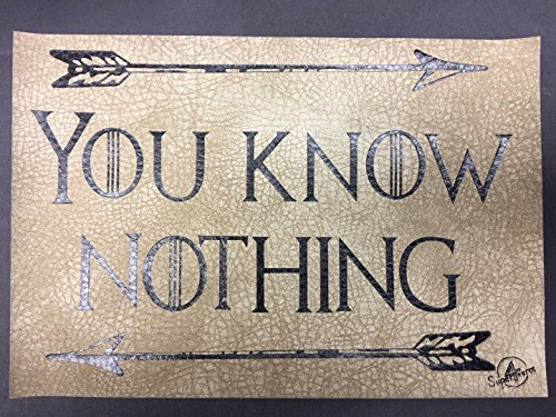 "Game of thrones Home Decor- You Know Nothing Decorative Water resistant Cell Phone Pad; Hold Cell Phone, Wallet, Sunglasses, Watches, Car Key, Ring, Ear-rings, Coins, Keychains, 9.7"" x 6.7"""