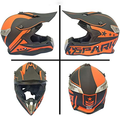 Cheyal Adult Motocross Helm Mx Motorradhelm Atv Scooter Atv Helm D O T Zertifiziert Rockstar Multicolor Mit Brillen Handschuhe Maske S M L Xl Xl Sport Freizeit