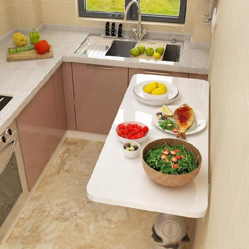 WLHER fällbart väggbord fällbart köksbord laptopbord matbord skrivbord multifunktionellt bord, för kontor/tvätt/husbar/restaurang, stabil och hållbar, platsbesparande 90*50CM
