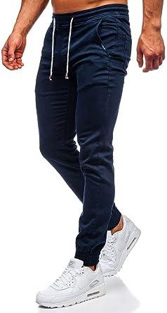 BOLF Hombre Pantalón Jogger Camuflaje Vaqueros Denim Pantalones de ...