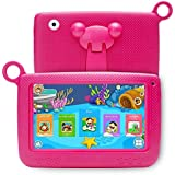 LLLtrade 7 inch Kids Education Tablets Android 5.1 8GB, Kids Software Pre-Installed, Premium Parent Control, Educational Game Apps,Wifi,Bluetooth (Red)