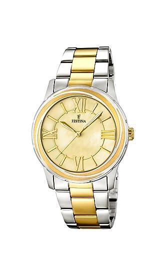 Festina F16723/1 - Reloj de cuarzo para mujer, con correa de acero inoxidable