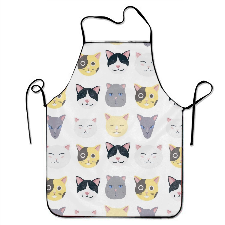 PANGERA ダークレッド 秋の葉のエプロン 面白いエプロン ノベルティ キッチン 料理 エプロン メンズ oneSize  Nice Cats2 B07GGLKFBL