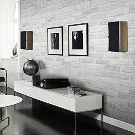 3D-Wohnzimmer, Schlafzimmer, Stein-Ziegel-Tapete, Wohnkultur ...