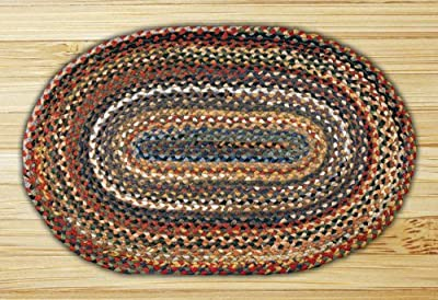 "Earth Rugs 03-999 Oval Rug, 27 x 45"", Random"