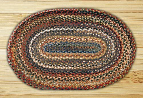 Earth Rugs Oval Rug, 3 x 5 , Random