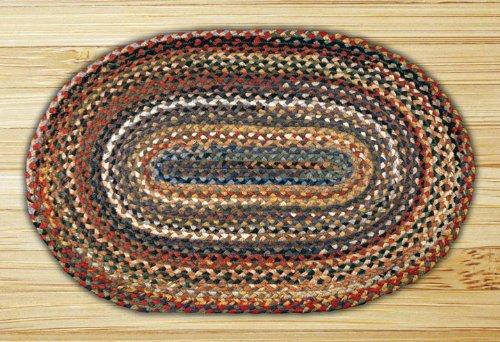 Earth Rugs Oval Rug, 3 x 5 , Random