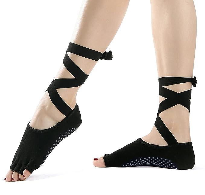 Amazon.com: Calcetines de Yoga – Antideslizante Skid agarre ...