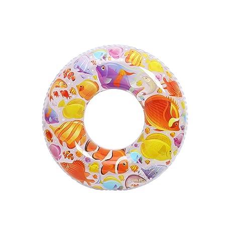 AMINSHAP Inflatable Swim Ring Patrón de Peces de Dibujos Animados Espesar Niño Axilas Adulto Flotador de