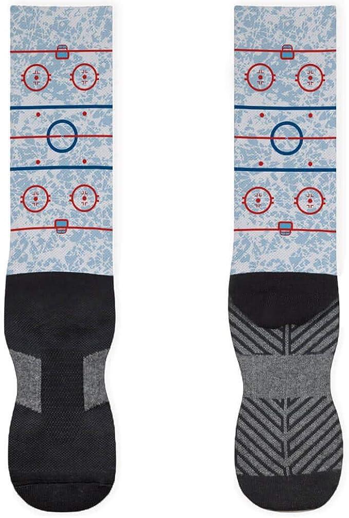 Hockey Socks by ChalkTalkSPORTS Rink Printed Mid Calf Socks Multiple Sizes
