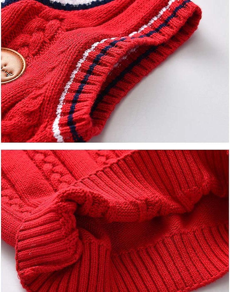 Boys Jumper Kids Knitted Vest Sleeveless Lingge Knitwear Tank Top Pullover 3-8 Years