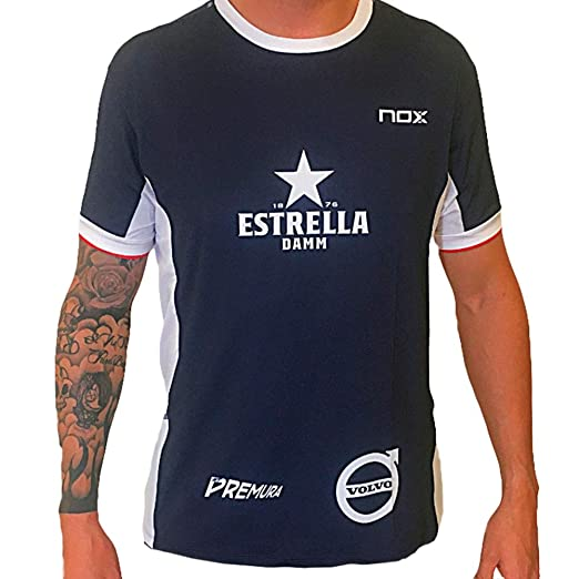 NOX Camiseta Miguel LAMPERTI Meta 10TH Azul Marino Blanco: Amazon ...