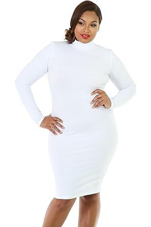 f60014d40737 Amazon.com  GITI ONLINE Long Sleeve Turtleneck Bodycon Dress Black ...