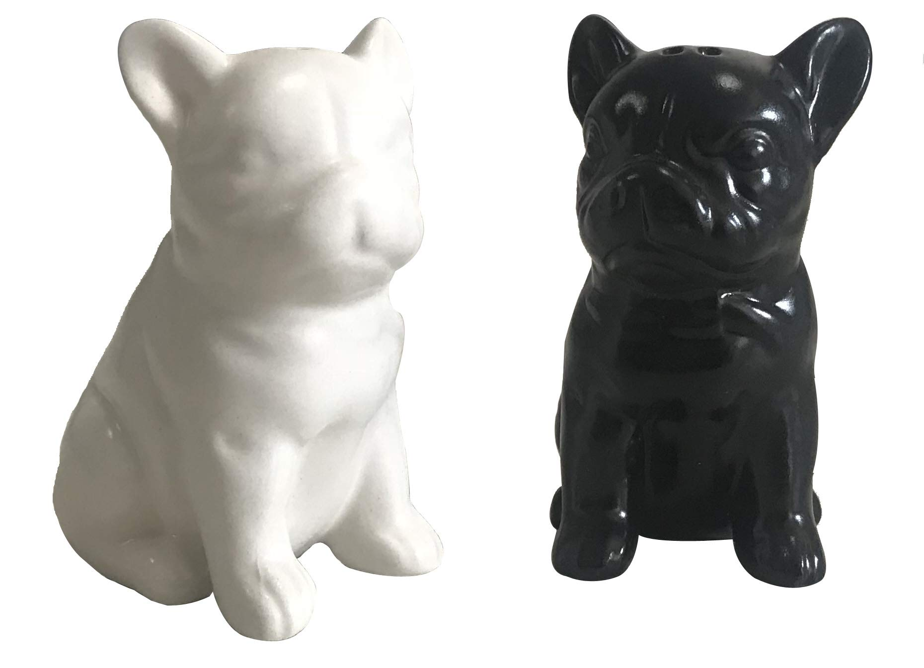 AFYBL Creative Funny Earthenware Bulldog Salt and Pepper Shakers,Pack of 2