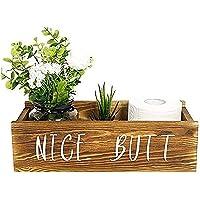 SERENITA Nice Butt Bathroom Decor Box, Funny Toilet Paper Holder, Farmhouse Bathroom Decor, Toilet Paper Storage…