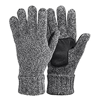 OMECHY Winter Knitted Gloves Mens & Womens Wool Warm Soft