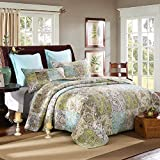 quilt only - Paisley Pattern Handmade 3-Piece 100% Cotton Queen Size Patchwork Quilts and Bedspreads