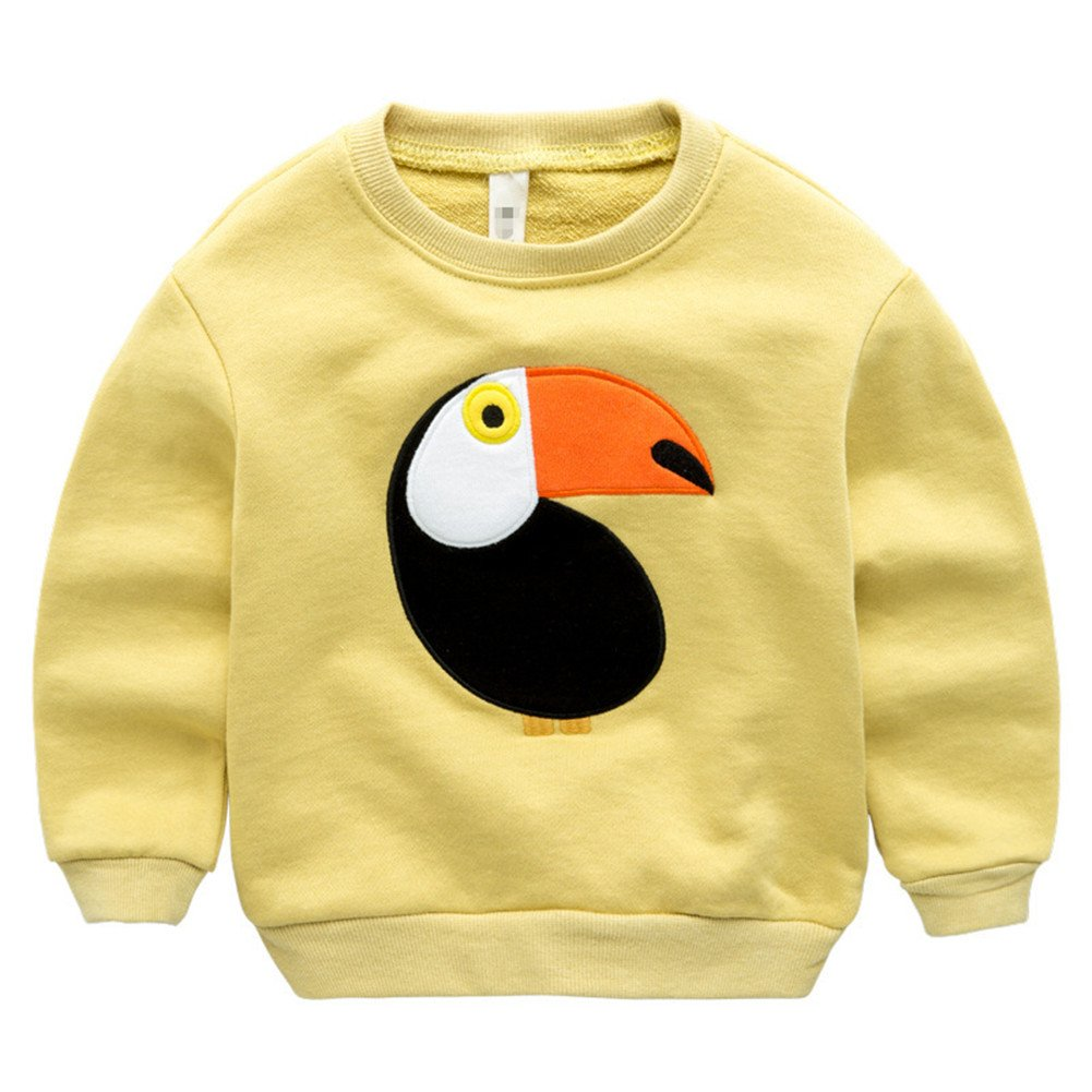 Oushiny Unisex KidsCotton Sweatshirt Kids Cute Top 4 Colors For 0-6