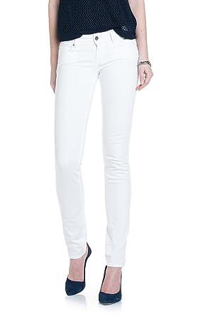 8d09a3b126 Salsa - Jeans Push-Up Wonder Slim L32, Blanc, 24 W/32 L: Amazon.fr ...