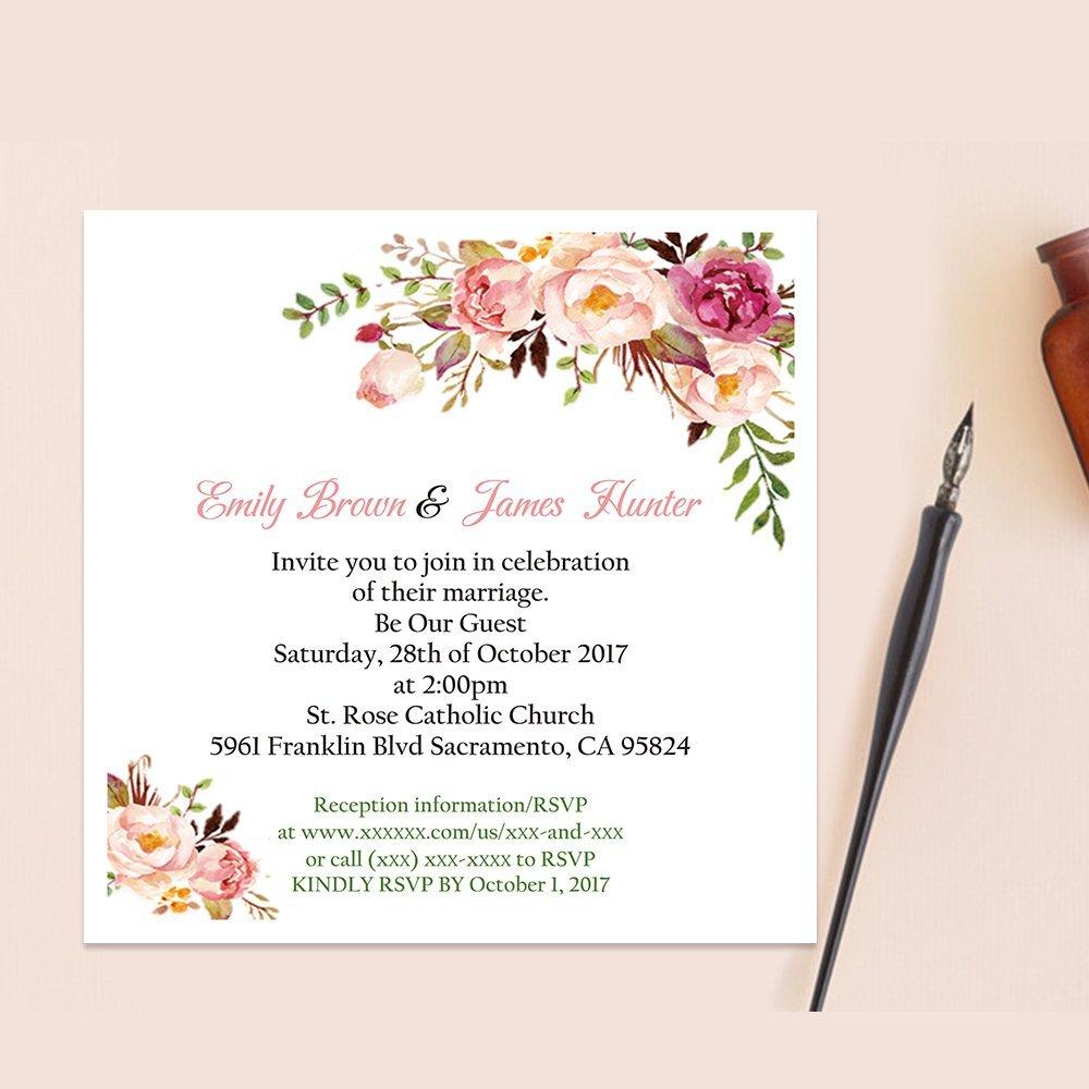 Amazon.com: Doris Home Square Wedding Invitations Cards Kits Fall ...