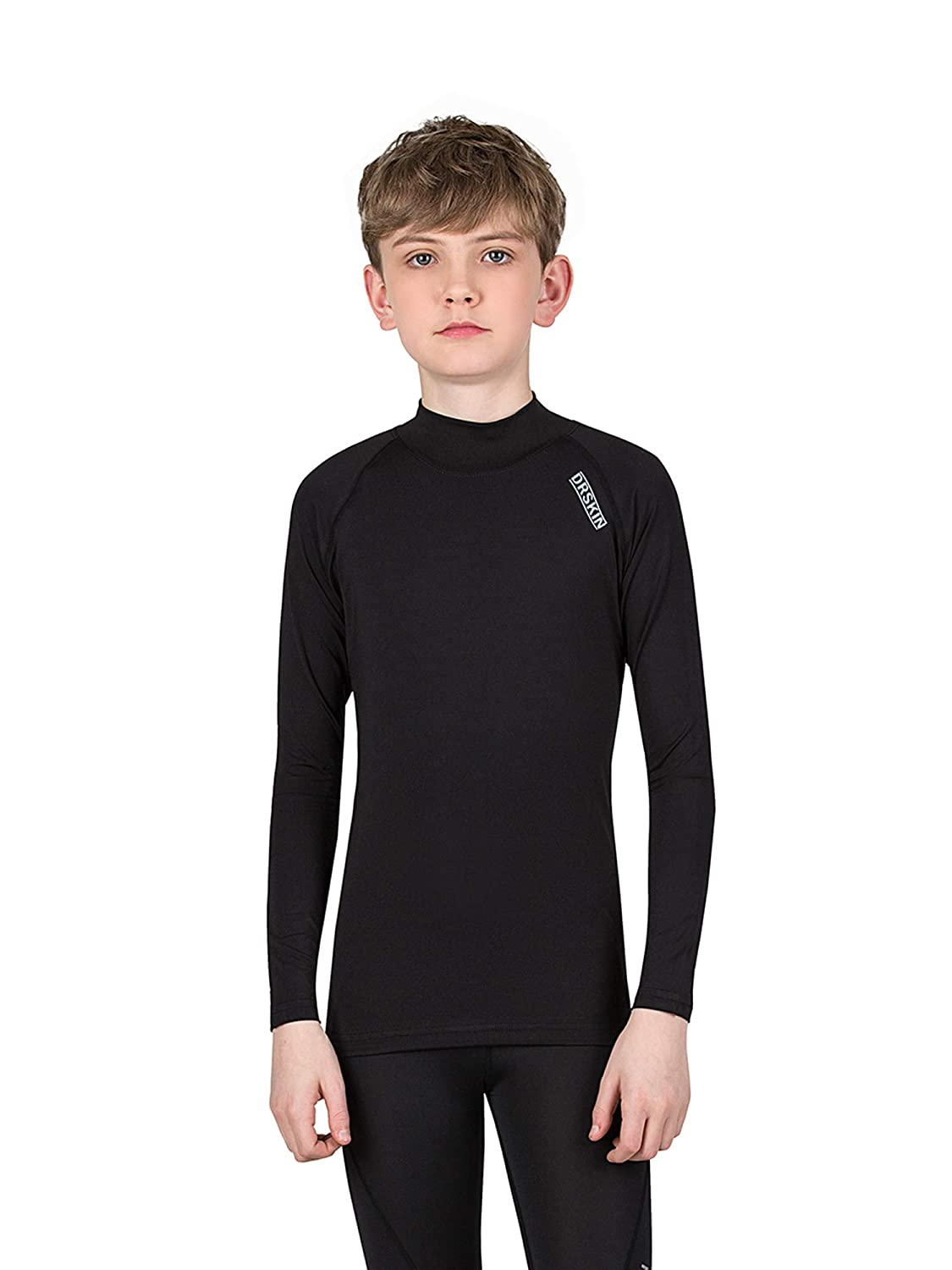 DRSKIN Kids Unisex- Boys /& Girls Long Sleeve Athletic Base Layer Compression Underwear Shirt or Tights