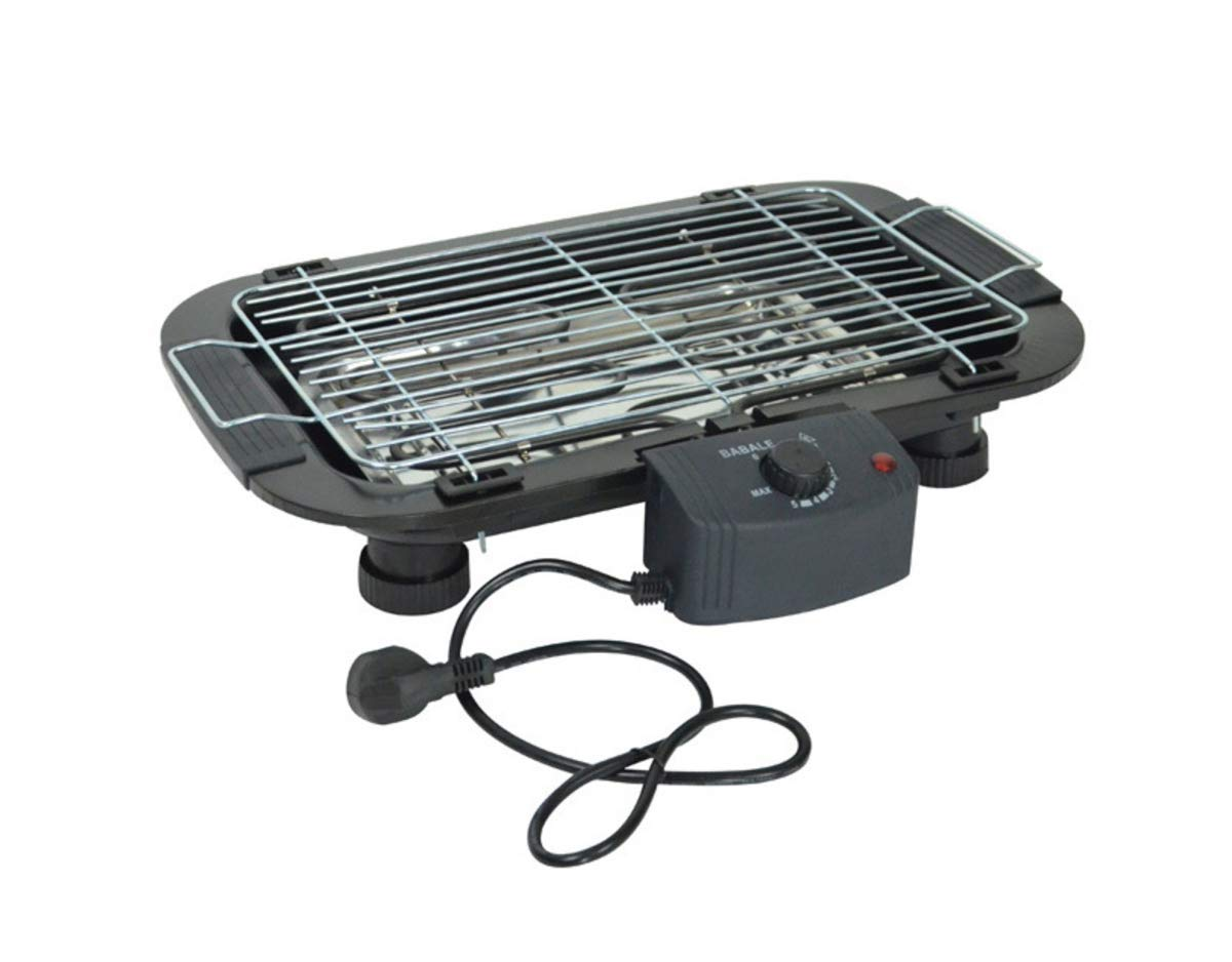 TabEnter BBQ Grill, Dual-Purpose Grill, Can be Grilled with Charcoal, Can Also Use Electricity, Home Smokeless Barbecue Tray, Suitable for 3 to 5 People (Black) by TabEnter