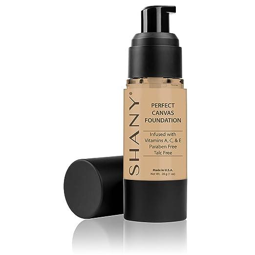 SHANY Perfect Canvas Liquid Foundation, Paraben/Talc/Oil Free, LW1, 30 Fluid Ounce