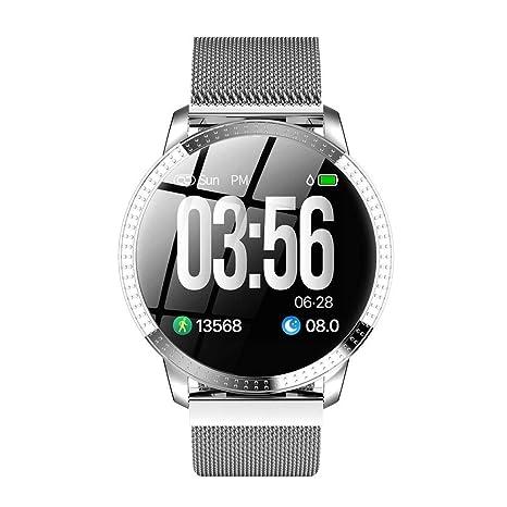 CF18 Reloj de pulsera inteligente Pulsera de metal de gama alta para mujer con podómetro deportivo