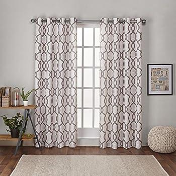Amazon Com Exclusive Home Baroque Textured Linen Look
