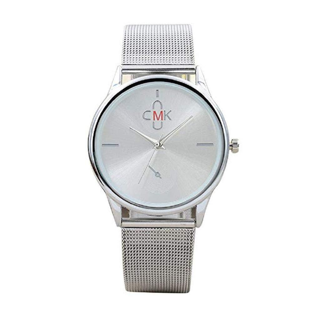 Reloj para Hombre Vestido de Moda para Hombre Reloj de Pulsera con Banda de  Malla Reloj de Cuarzo de Acero Inoxidable Casual único Reloj de Negocios  clásico ... b3c785f56229