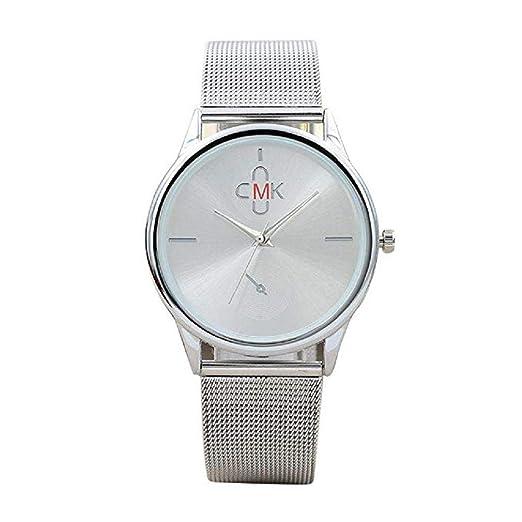 Reloj para Hombre Vestido de Moda para Hombre Reloj de Pulsera con Banda de Malla Reloj