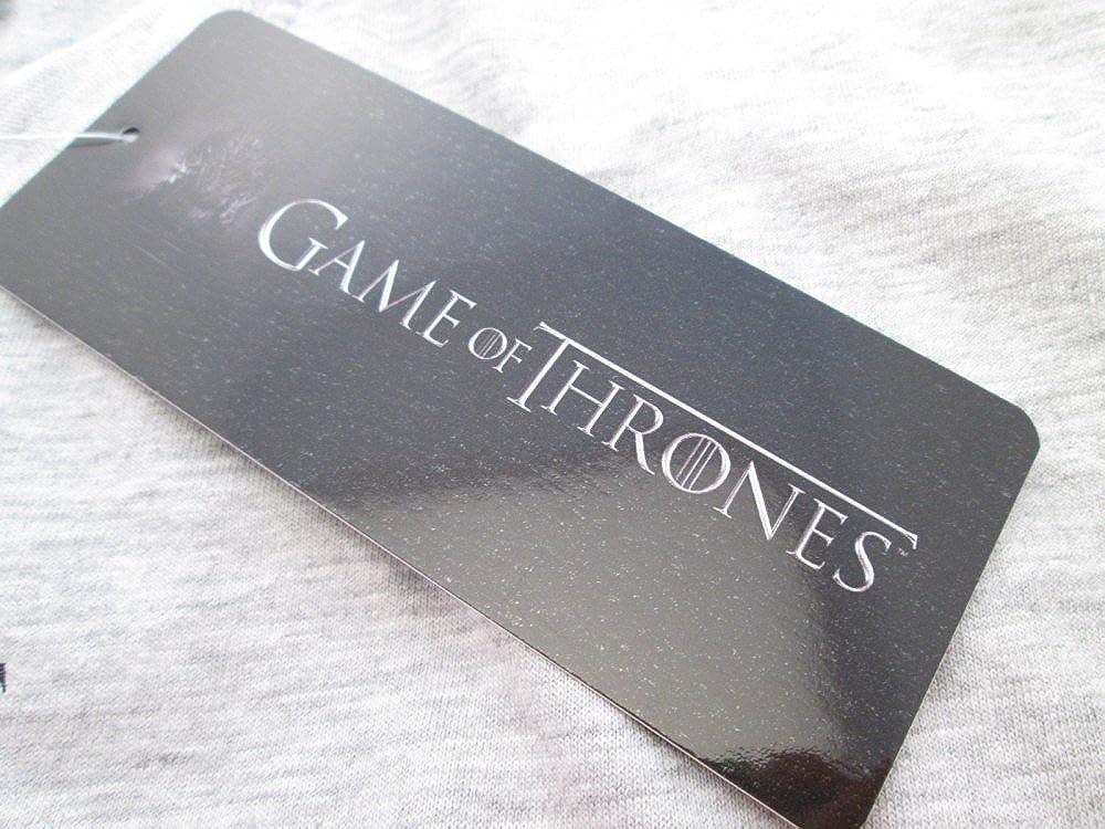 Felpa Game of Thrones Originale House Stark Nera Winter is Coming Trono di Spade con Tasche Prodotto Ufficiale