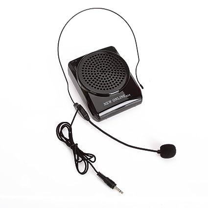 Mini Amplificador portatil trabajar de forma continua durante 8-15 horas con un microfono para guías , maestros , profesores , artistas, ...