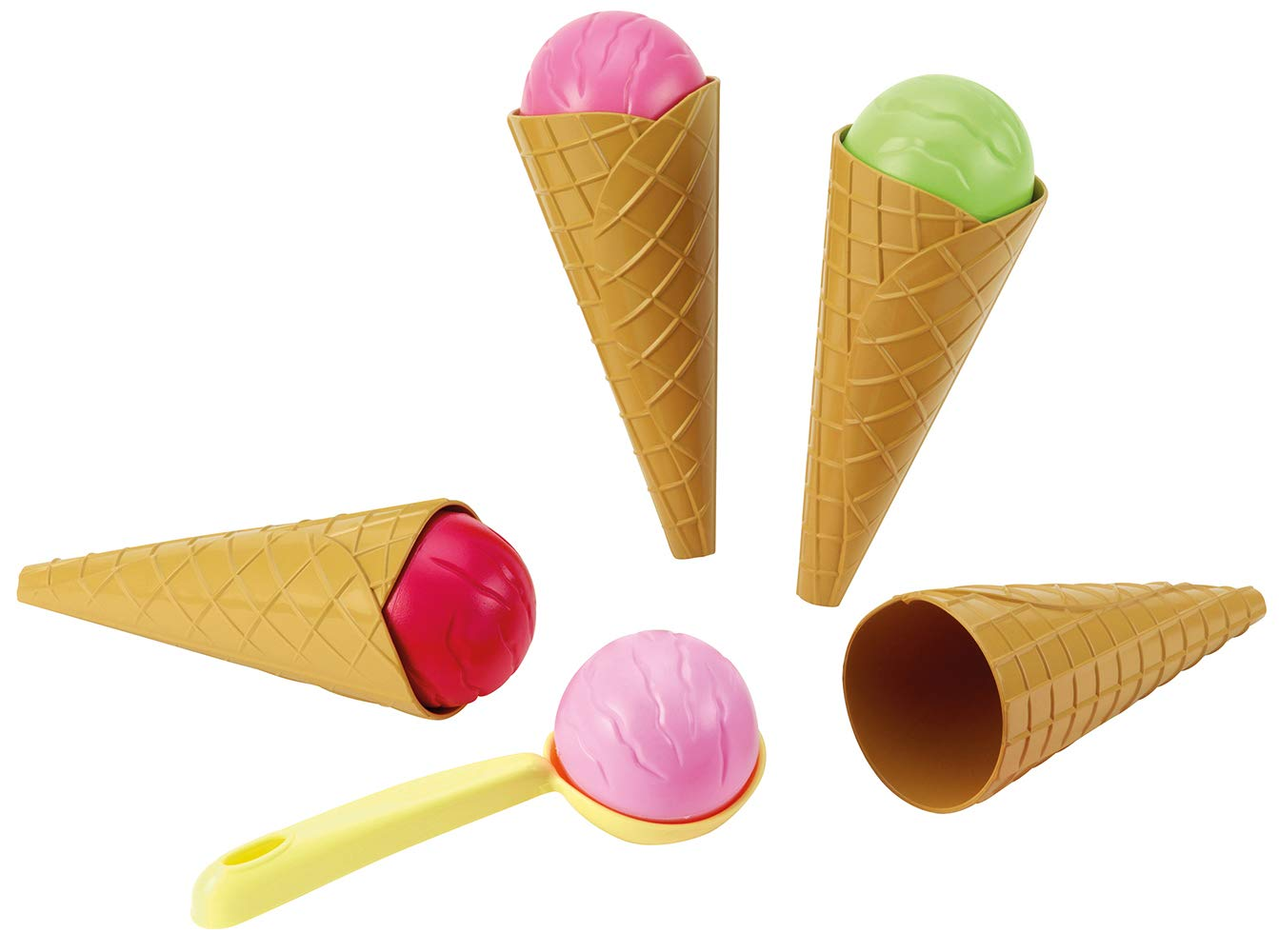 Ecoiffier Ice-Cream Cone Set with Accessories (Multi-Colour)