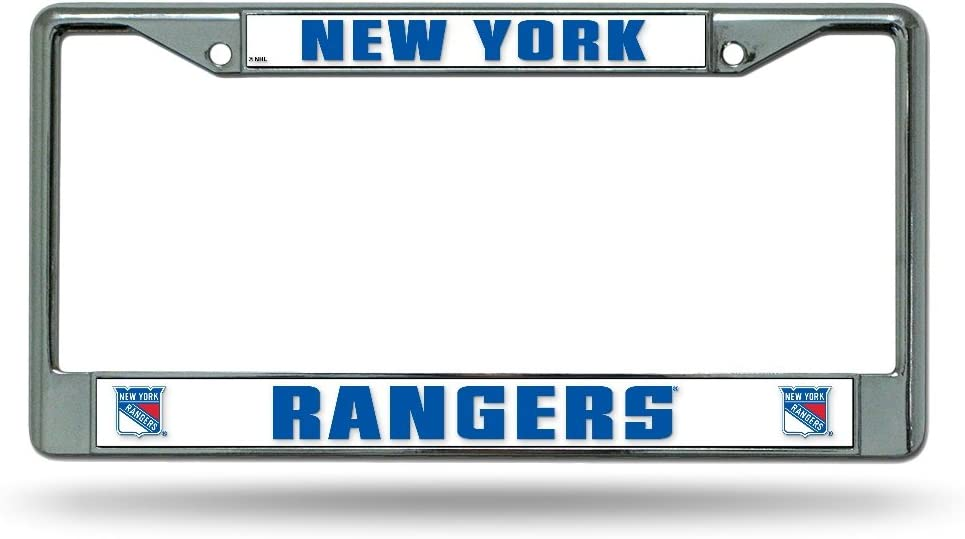 New York Rangers Chrome License Plate Frame