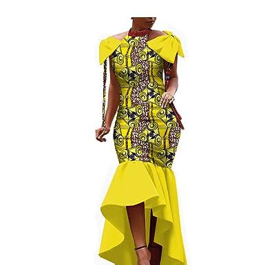 2019 Vestido de Tela Africana para Mujeres y niñas Ankara Hecho a ...