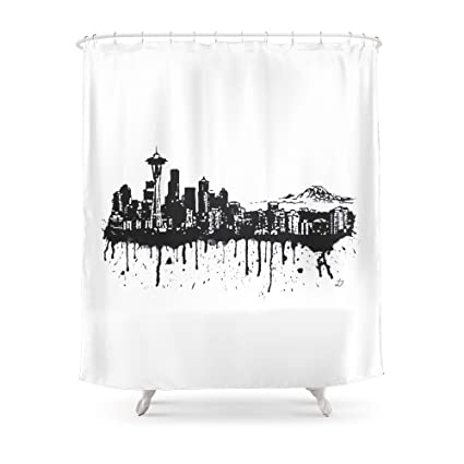 Society6 Seattle Shower Curtain 71quot