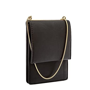 Amazon.com: 98°Apparel Black Faux Leather Crossbody Women's ...