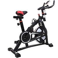 Homgrace Vélo D'appartement Ergomètre Cardio Vélo de Biking avec Programme et l'Ecran LCD,Cardiofréquencemètre,Porte-Bouteille,Silencieux-Poids Max de l'Utilisateur: 150 kg