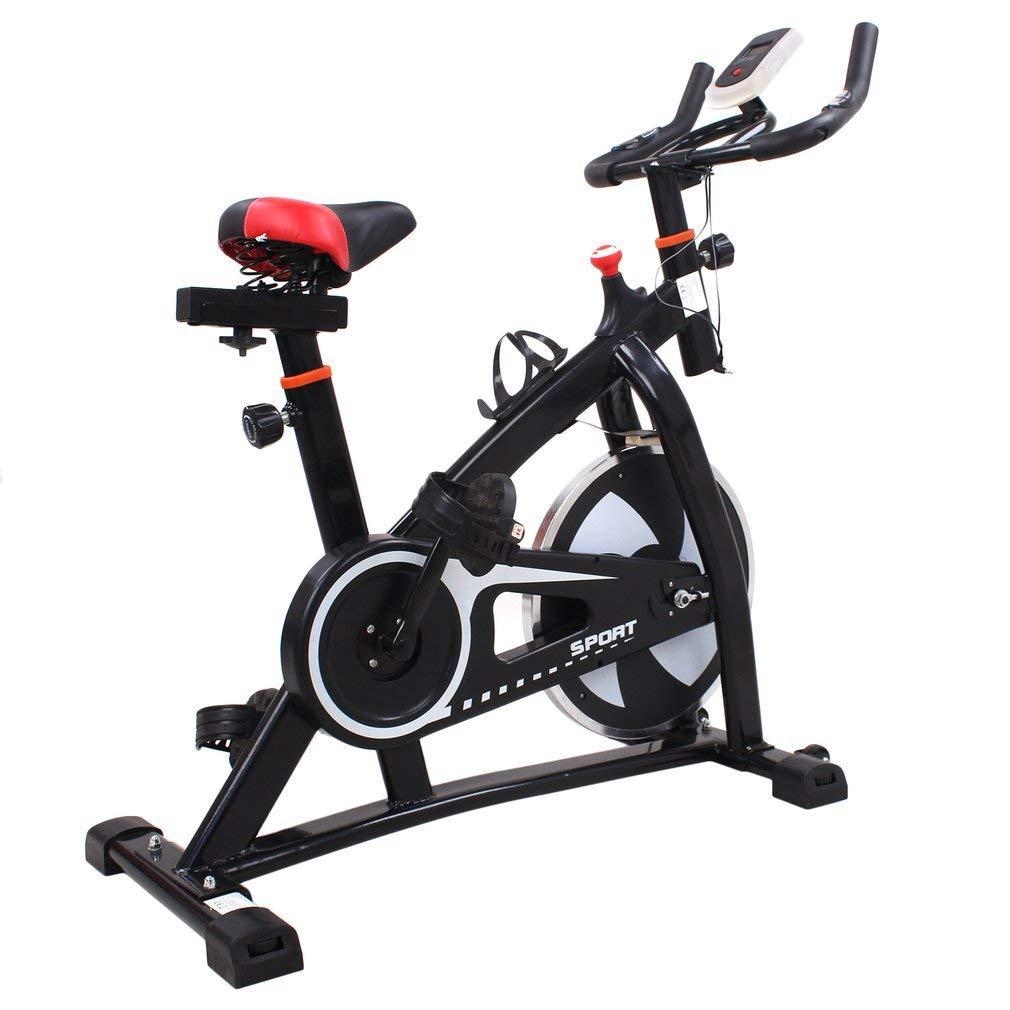 Kayleeolivi Profi Indoor Cycle Bike LCD Fitnessfahrrad mit 6kg Schwungrad, Spinning Bike, Hometrainer, Gepolsterter Armauflage, Komfortsattel, ruhiges Reiten Pulsmessung bis 120kg