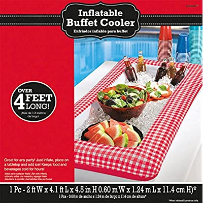 Amscan395674 Picnic Party Inflatable Cooler, 4.5