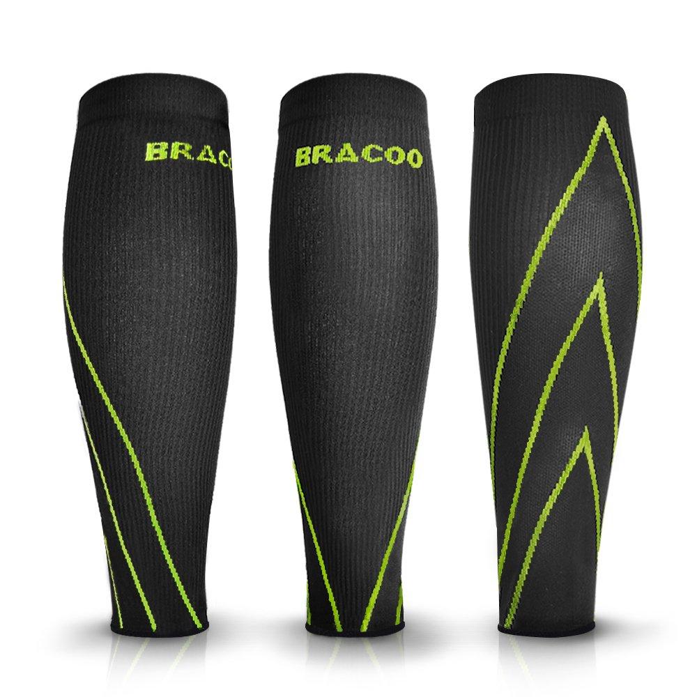 Bracoo ふくらはぎサポーター 通気性 下腿サポーター コンプレッション すね用 運動用 トレーニング用 レッグスリーブ 両足入 B00E6GRGQ0 M(26.5~36.5cm)|イエロー イエロー M(26.5~36.5cm)