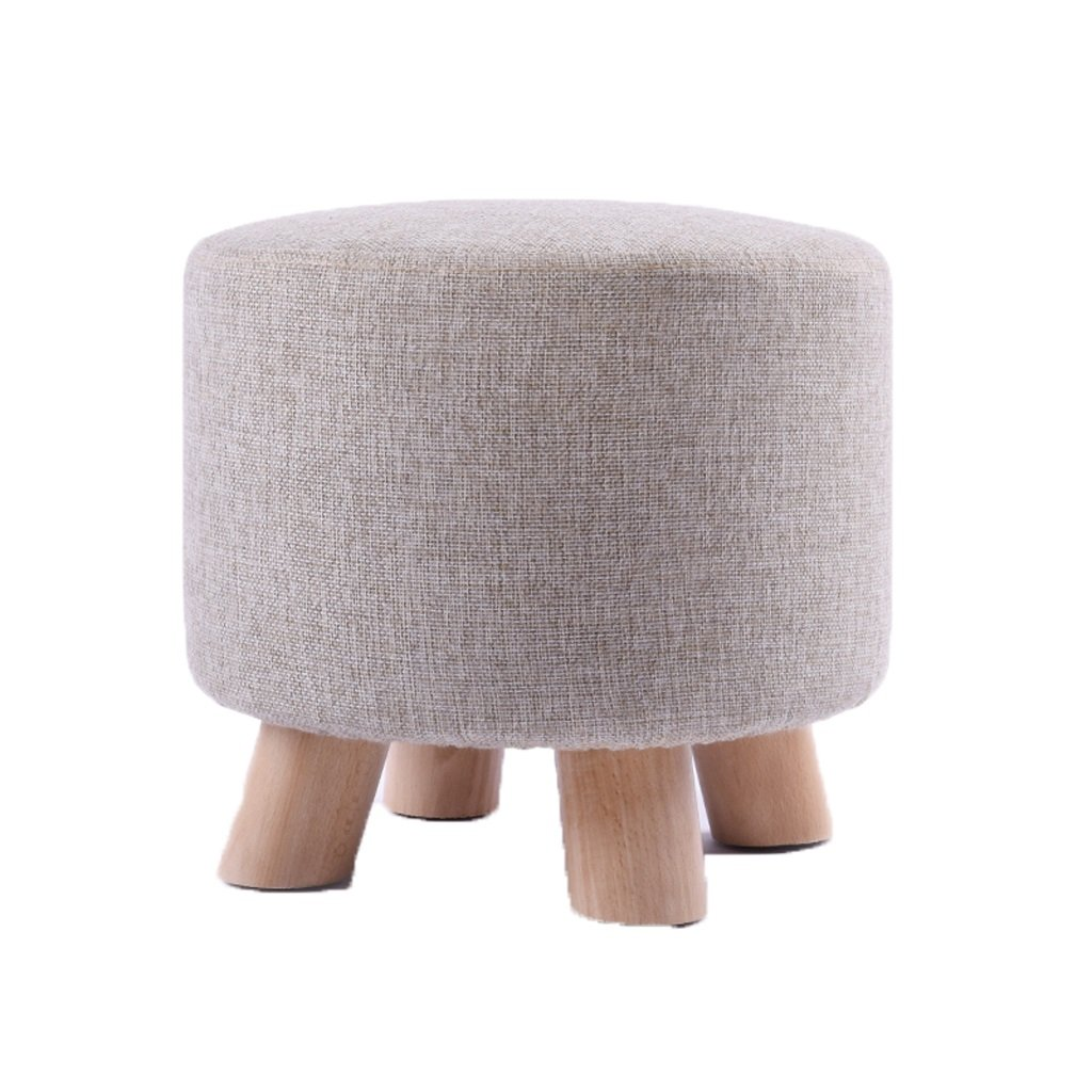 B Fabric sofa stool stool designer personality stool simple stool fashion footstool (color   A)