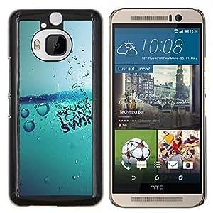 EJOOY---Cubierta de la caja de protección para la piel dura ** HTC One M9Plus M9+ M9 Plus ** --Agua Splash