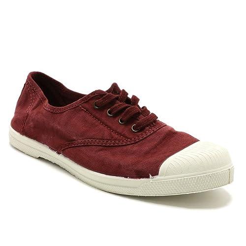 Natural World - Zapatillas de Deporte de Lona Mujer, rojo (granate), 39: Amazon.es: Zapatos y complementos