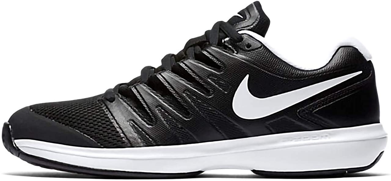 [ナイキ] メンズ テニスシューズ コートズームプレステージ HC ブラック/ホワイト AA8020 001 ブラック×ホワイト(001) 25.0 cm