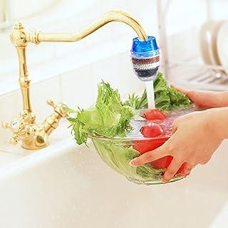 Acqua purificata rubinetto carbone di bambù muti strato rubinetto filtro purificatore testa Home Tool (colori assortiti.)