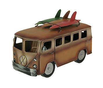 Naranja y blanco 60s estilo Playa autobús con tabla de surf accesorio de: Amazon.es: Hogar